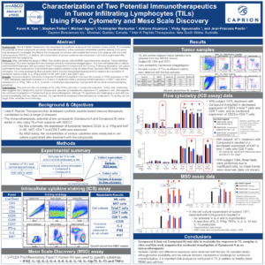 Characterization of Two Potential Immunotherapeutics in Tumor Infiltrating Lymphocytes (TILs) Using Flow Cytometry and Meso Scale Discovery