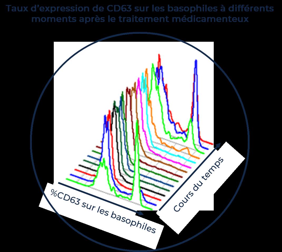 Taux d'expression du CD63 sur les baophiles