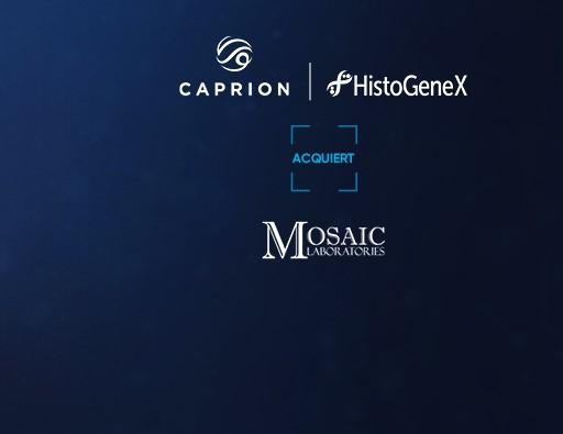 Caprion-HistoGeneX fait l'acquisition de Mosaic Laboratories